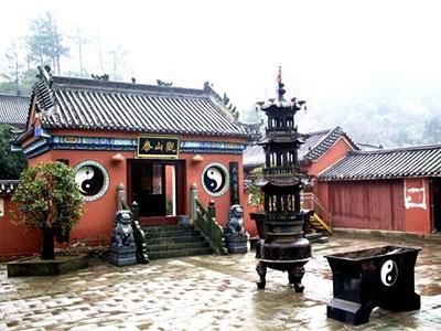 雨中的泰山观