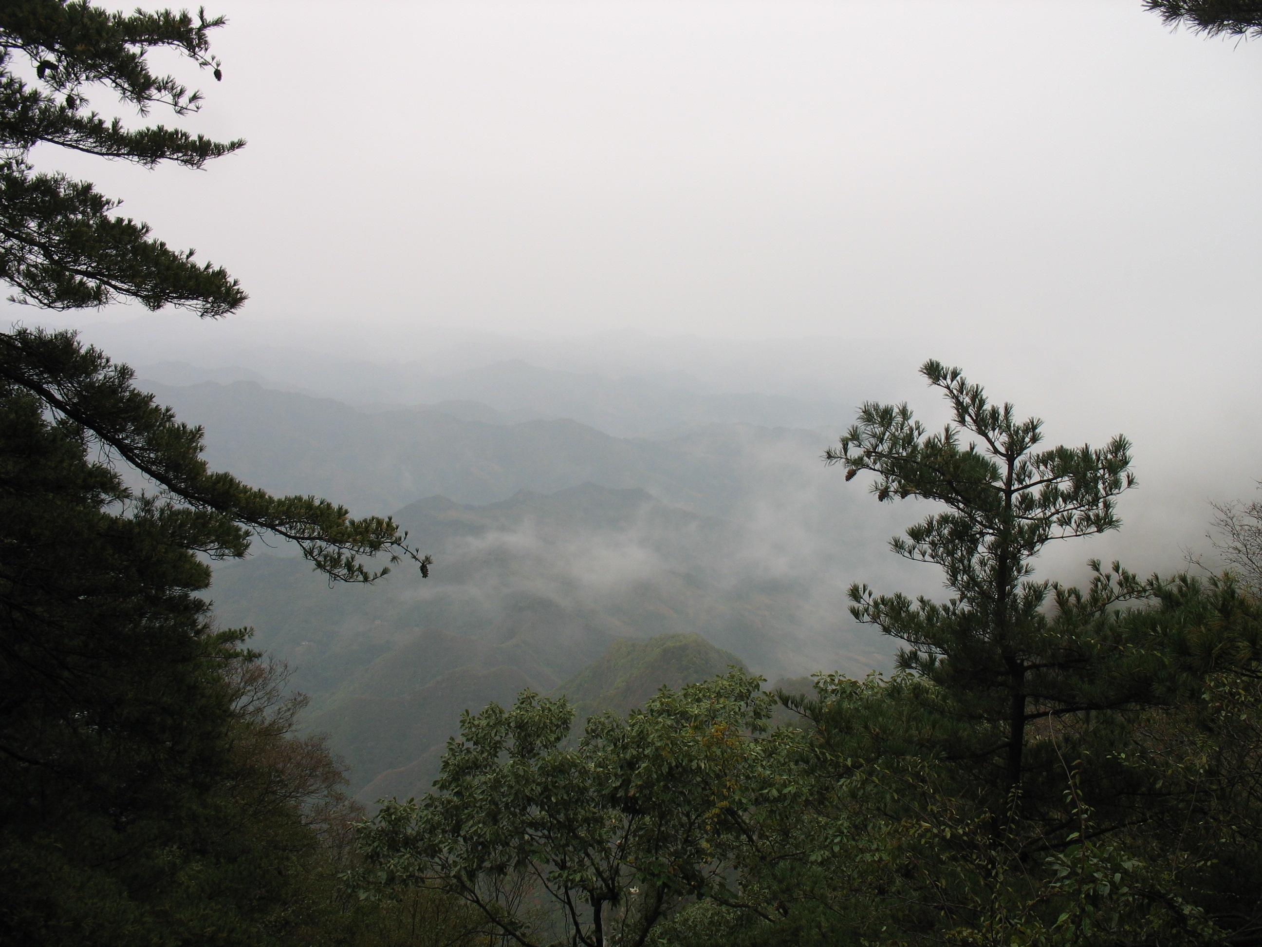 秋天的天竺山风景